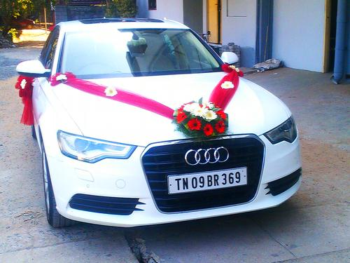 Car Decoration Simply South Wedding - Audi car decoration