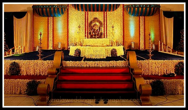 Stage Decoration For Hindu Wedding In Kerala Oh Decor Curtain